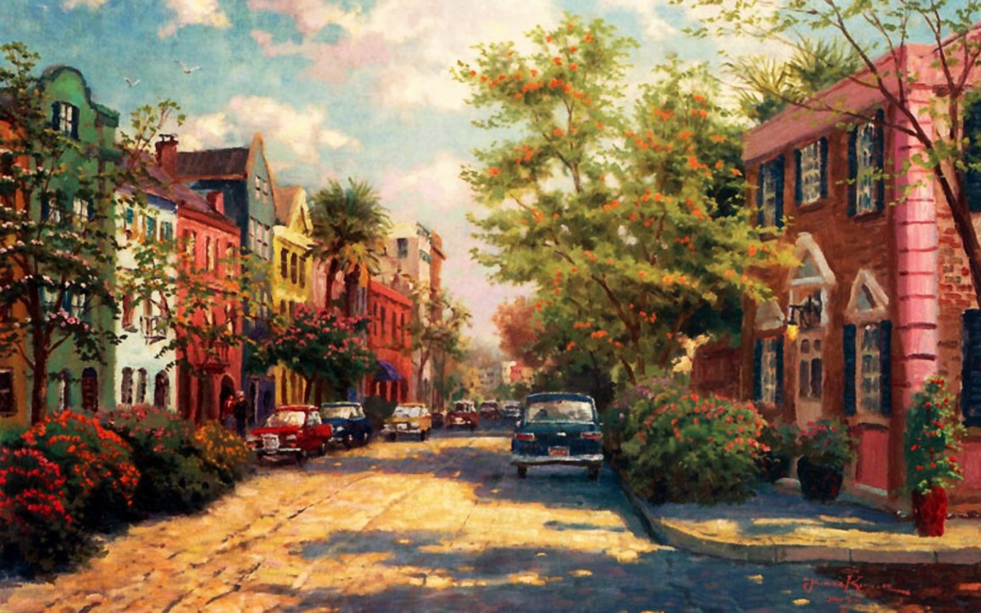 Forest Animated Wallpaper Rainbow Row Charleston Wallpapers Rainbow Row Charleston