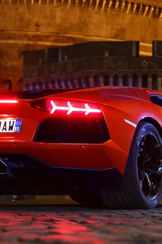 Ultra Hd Wallpapers Iphone X 640x960 Red Lamborghini Aventador Iphone 4 Wallpaper