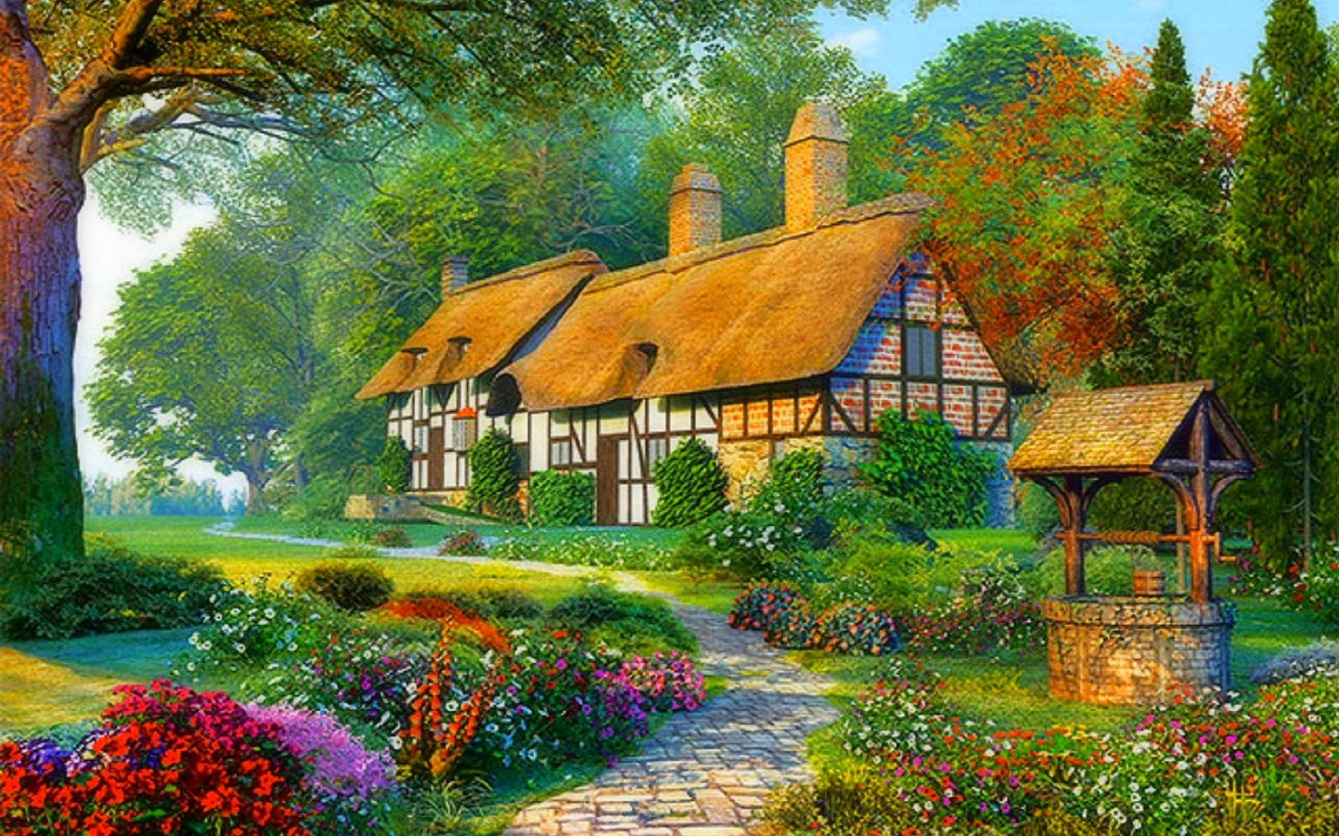 3d Snowy Cottage Animated Wallpaper Free Download Romantic Cottages Wallpapers Romantic Cottages Stock Photos