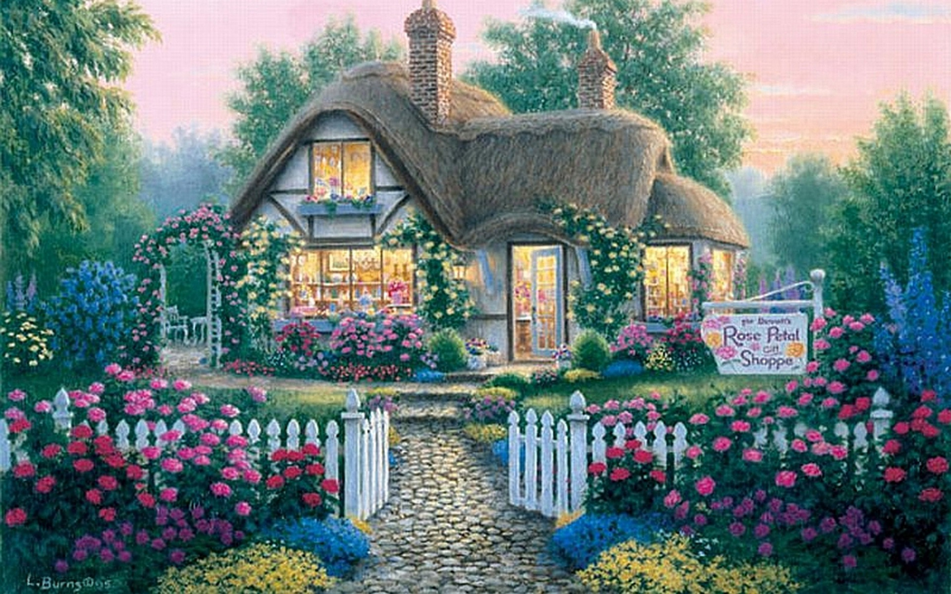 3d Wallpaper Colourful Rose Petal Cottage Wallpapers Rose Petal Cottage Stock