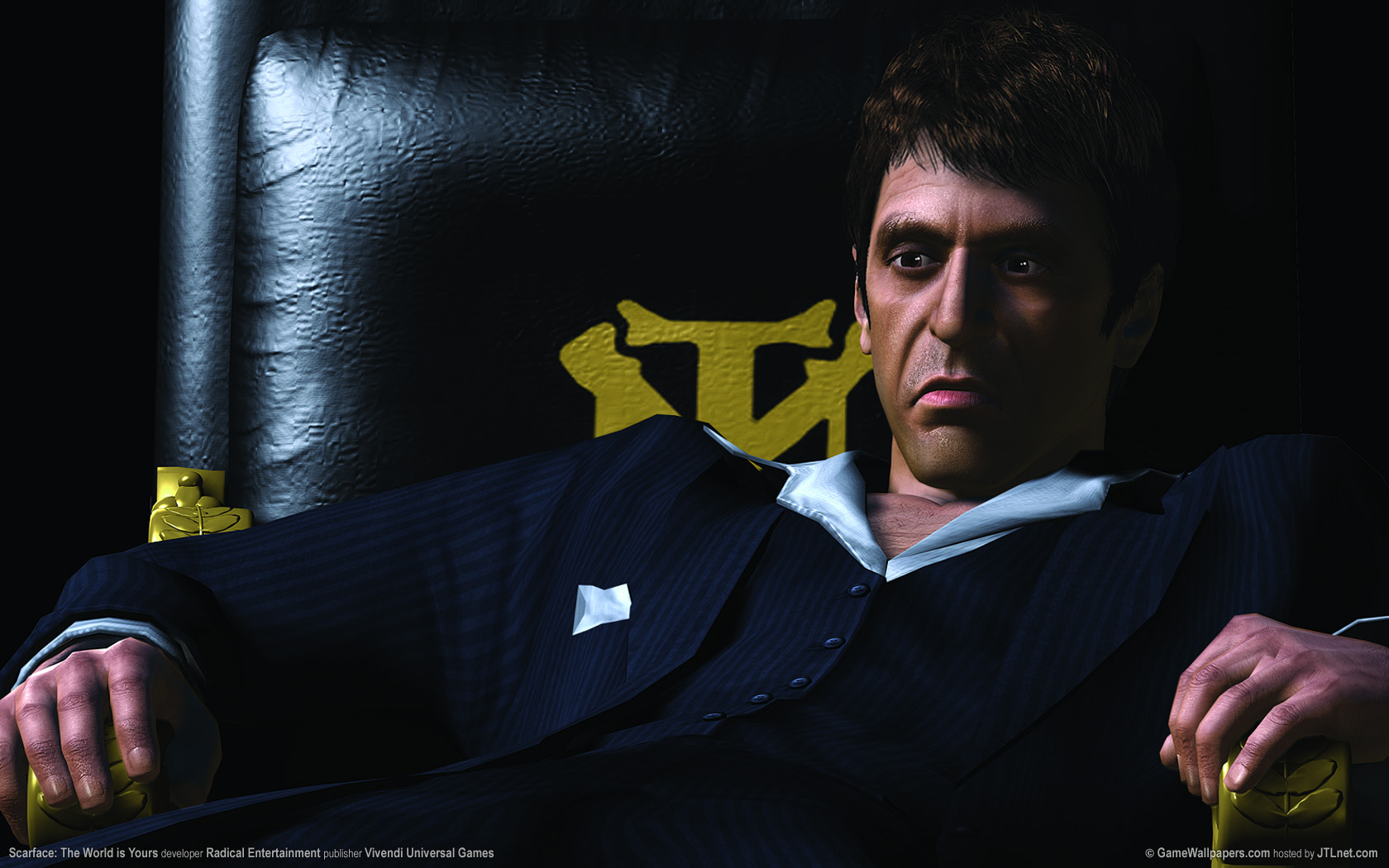 Scarface Quotes Wallpapers 1680x1050 Scarface The World Is Yours Desktop Pc And Mac