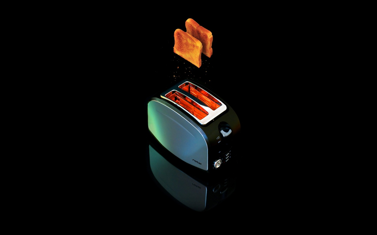 Toaster With Black Background