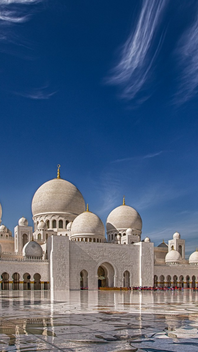 Wallpaper 4k For Phone Iphone X 640x1136 Sheikh Zayed Grand Mosque Iphone 5 Wallpaper