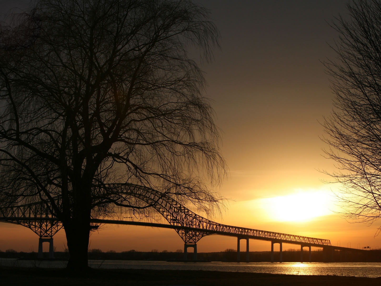 Amazing 3d Wallpapers For Mobile Sunset Over A Bridge Wallpapers Sunset Over A Bridge