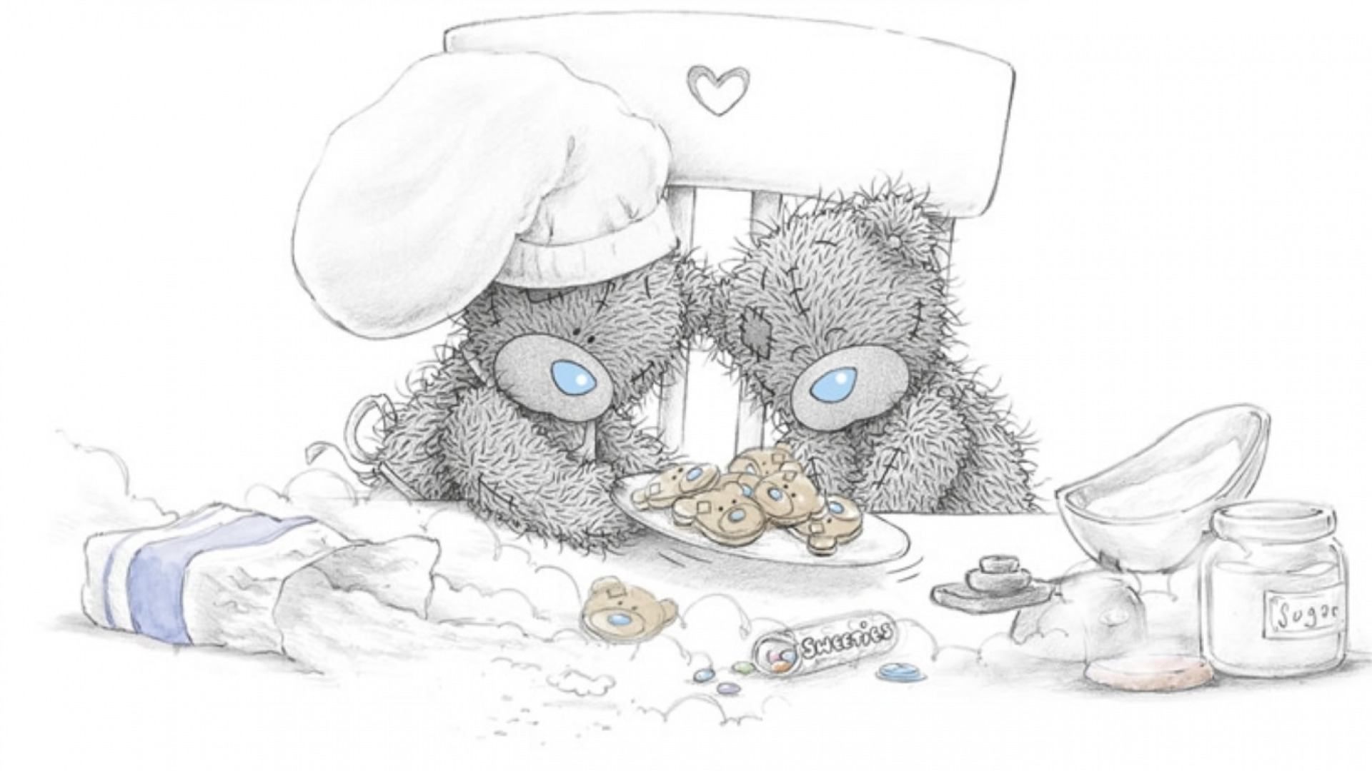 Free Wallpapers Of Cute Teddy Bears 1920x1080 Tatty Teddy Four Desktop Pc And Mac Wallpaper