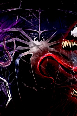 Deadpool Logo Wallpaper Hd 320x480 Venom Wallpaper Iphone 3g Wallpaper