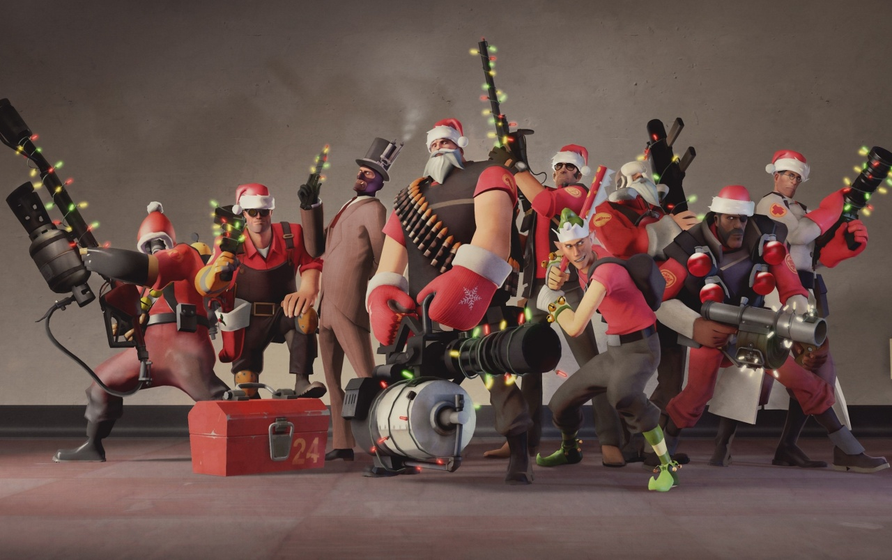 Gameboy Iphone X Wallpaper Team Fortress 2 Navidad Fondos De Pantalla Team Fortress