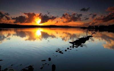 Sunset Clouds & Sea Reflection wallpapers | Sunset Clouds & Sea Reflection stock photos