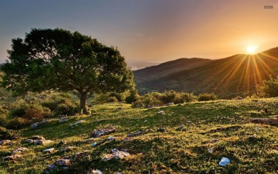 Sunset From The Hills wallpapers | Sunset From The Hills stock photos