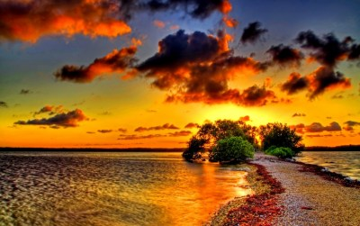 Two Seas One Shore Sunset wallpapers | Two Seas One Shore Sunset stock photos