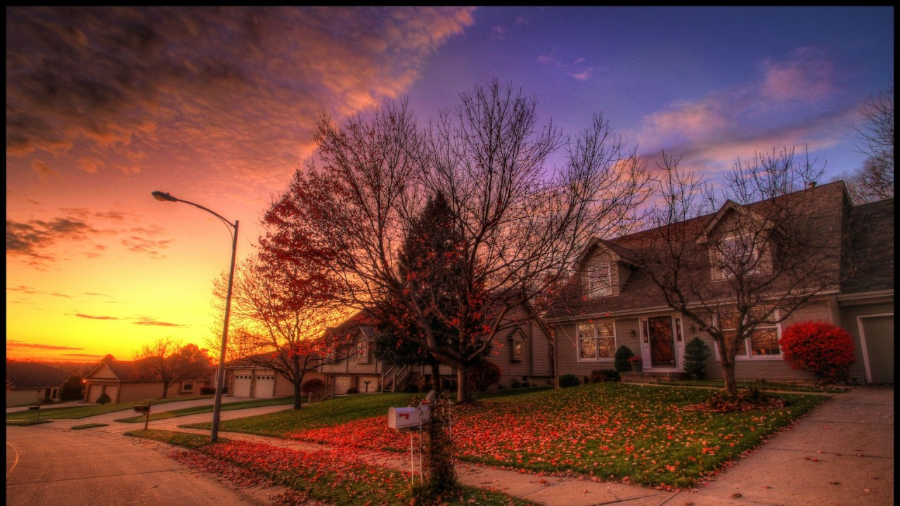 Fall Harvest Iphone Wallpaper Houses Autumn Road Nice Sunset Wallpapers Houses Autumn