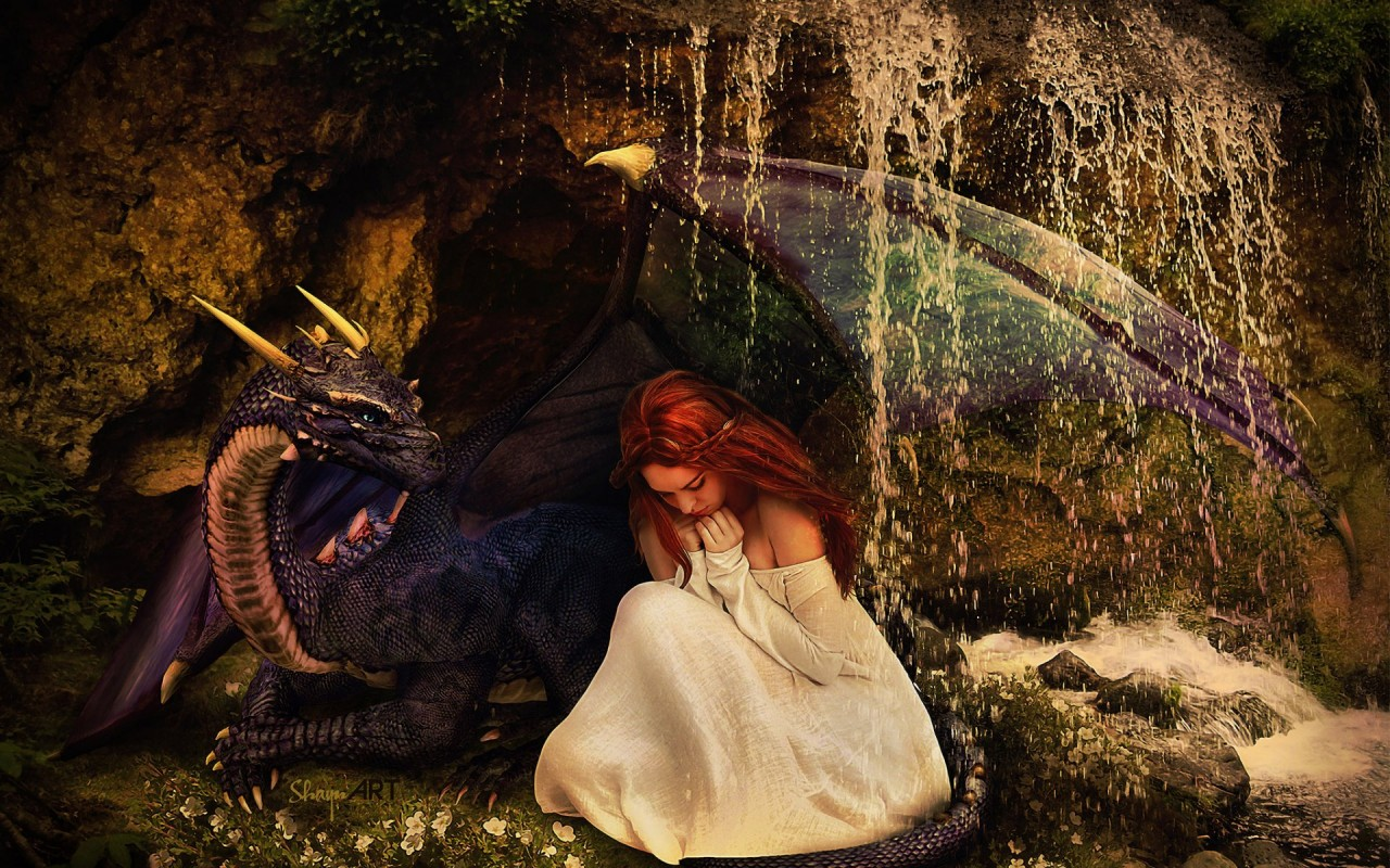 Friendship Wallpapers Of Boy And Girl Woman Red Hair Dragon Friends Wallpapers Woman Red Hair