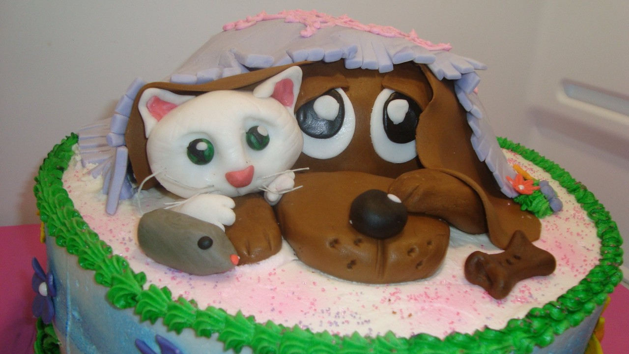 Wallpaper Perritos 3d Dog Cat Amp Mouse Cake Wallpapers Dog Cat Amp Mouse Cake