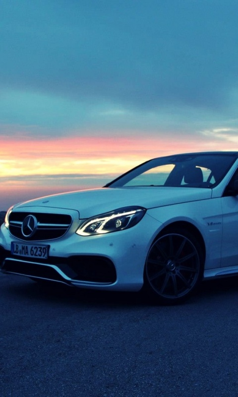Iphone Wallpapers Hd Free Download 480x800 White Mercedes Benz E63 Amg Galaxy S2 Wallpaper