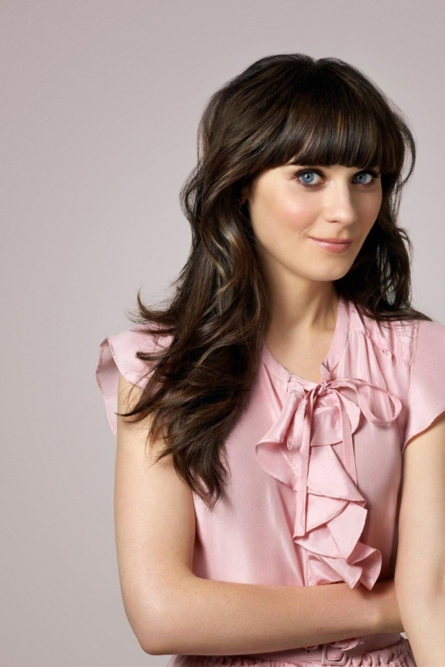 Cute Pink Wallpaper For Phone 640x960 Zooey Deschanel Cute Pink Dress Iphone 4 Wallpaper