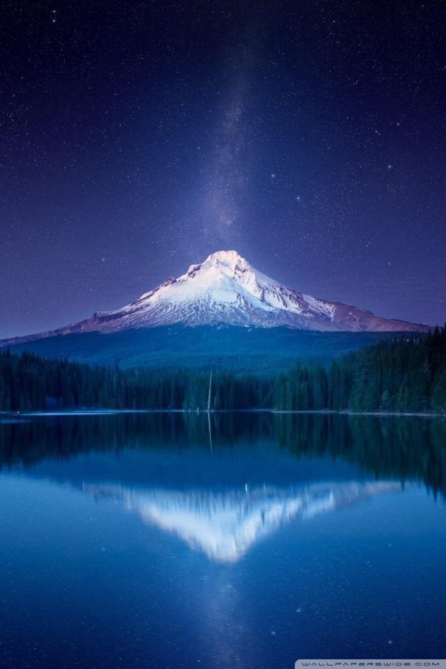 Iphone 1080p Wallpaper Amazing Mountain Milky Way By Yakub Nihat Mount Hood In