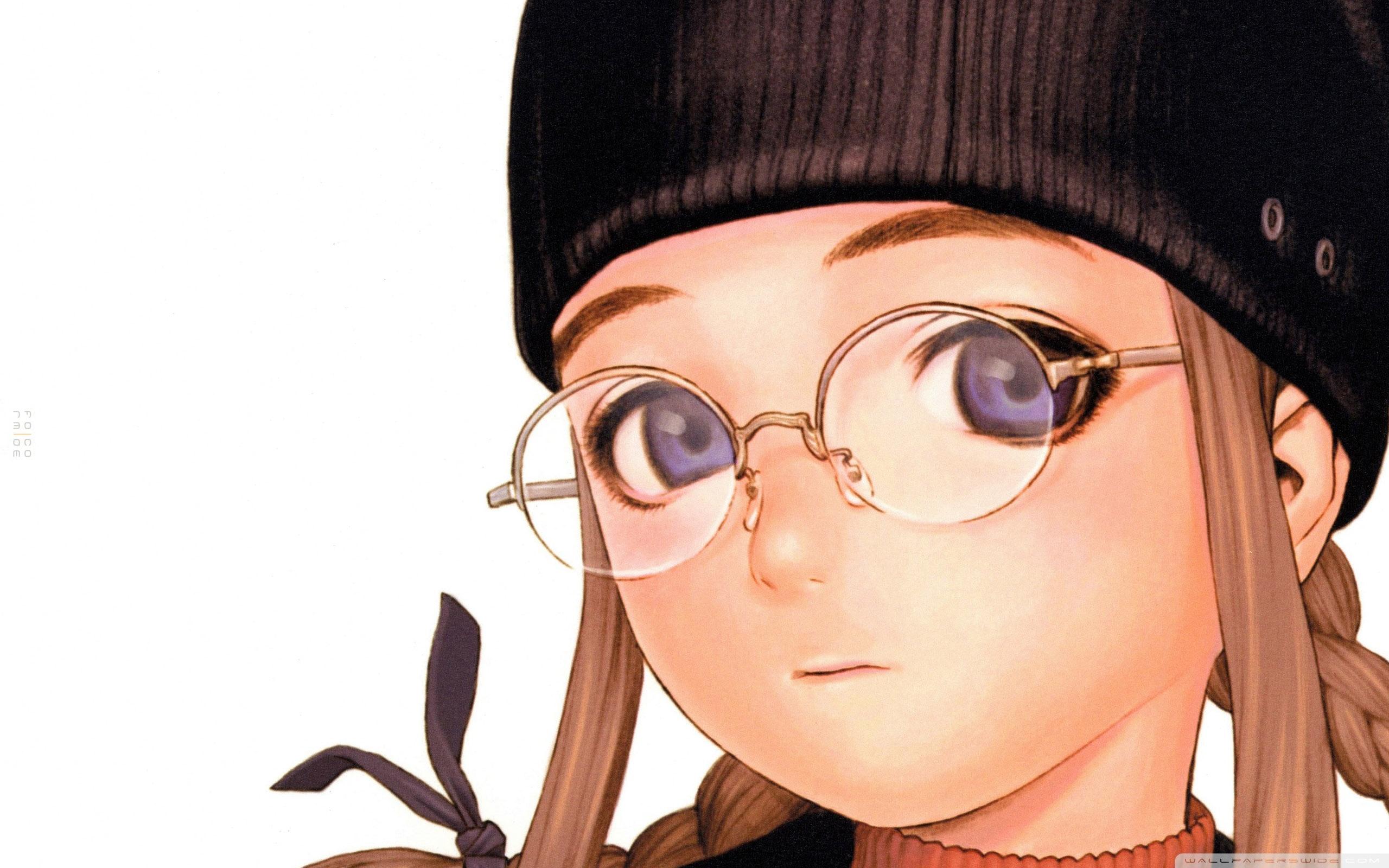 Amazing Wallpaper Girl Headphones Anime Girl With Glasses 4k Hd Desktop Wallpaper For 4k