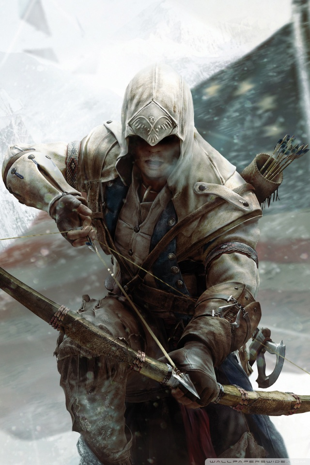 3d Name Wallpapers For Iphone Assassin S Creed 3 Connor Bow 4k Hd Desktop Wallpaper For