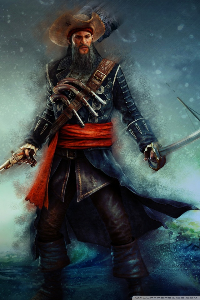 One Piece Iphone X Wallpaper Assassin S Creed Iv Black Flag Blackbeard 4k Hd Desktop
