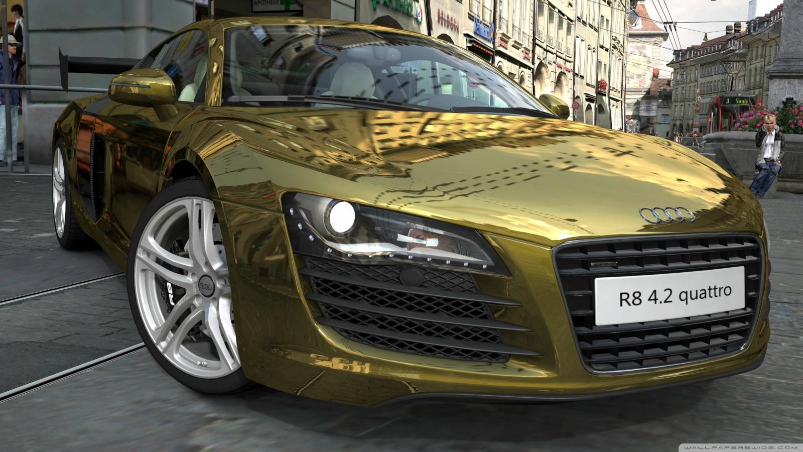 Exotic Cars Wallpaper Pack Audi R8 4 2 Quattro Gold 4k Hd Desktop Wallpaper For 4k