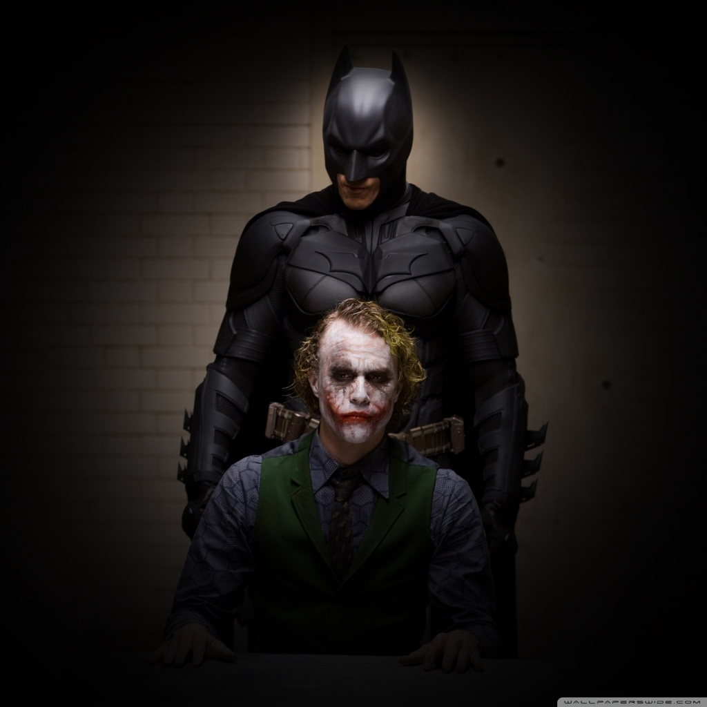 Christian Bale Iphone Wallpaper Batman And Joker 4k Hd Desktop Wallpaper For 4k Ultra Hd