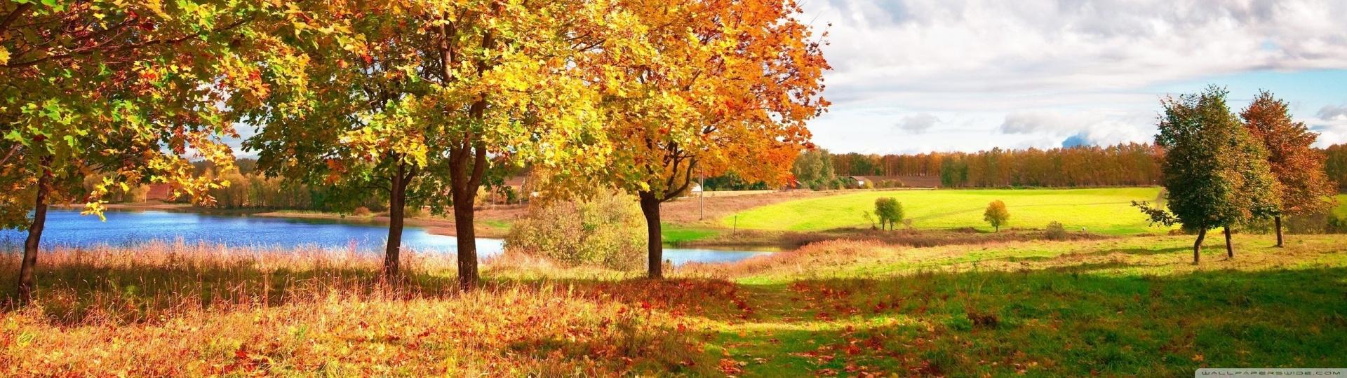 Fall Wallpaper For Large Monitors Beautiful Autumn Day 4k Hd Desktop Wallpaper For Dual