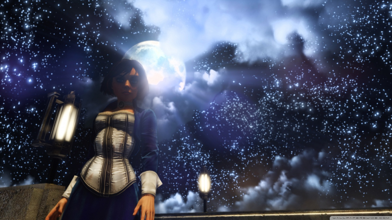 Bioshock Infinite Falling Wallpaper Hd Bioshock Infinite Elizabeth And The Starry Sky 4k Hd