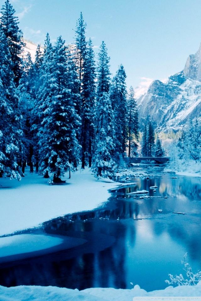 Snow Falling Wallpaper For Ipad Blue Winter Landscape 4k Hd Desktop Wallpaper For 4k Ultra