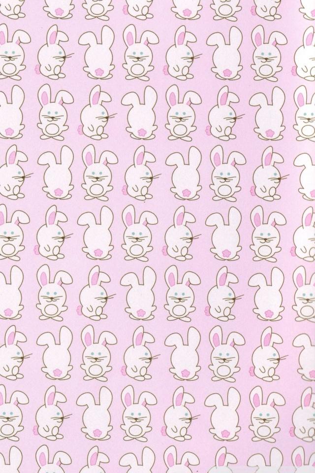 Cute Pink Cat Wallpapers Bunny Pattern 4k Hd Desktop Wallpaper For Dual Monitor