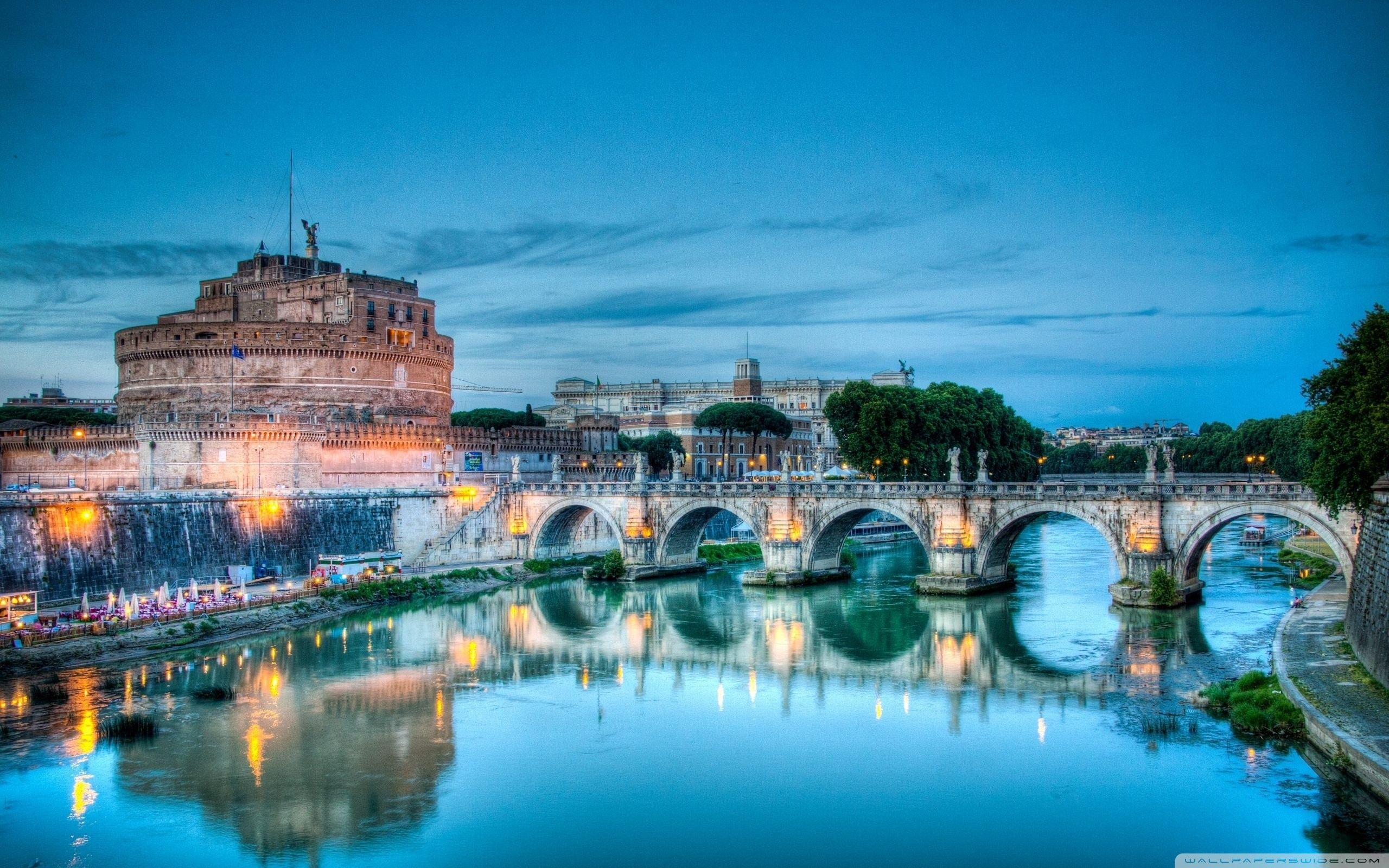 Wallpapers Of Italy Castel Sant Angelo Tiber River Rome Italy 4k Hd Desktop