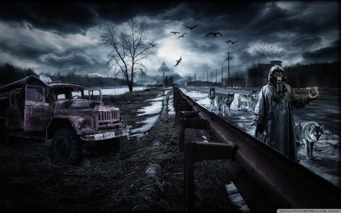 Horror Hd Wallpapers 1366x768 Chernobyl Wolves 4k Hd Desktop Wallpaper For 4k Ultra Hd