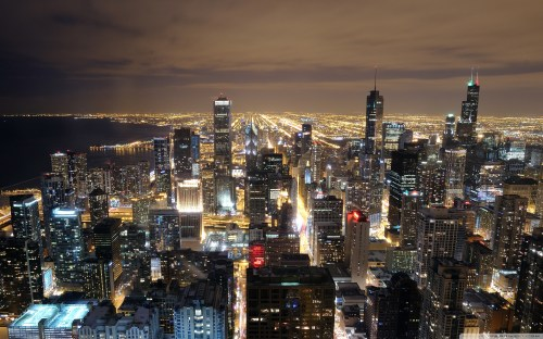 Medium Of Chicago Skyline Wallpaper