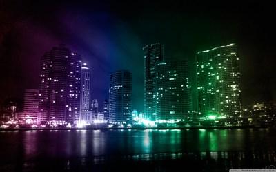 City Lights 4K HD Desktop Wallpaper for 4K Ultra HD TV • Wide & Ultra Widescreen Displays