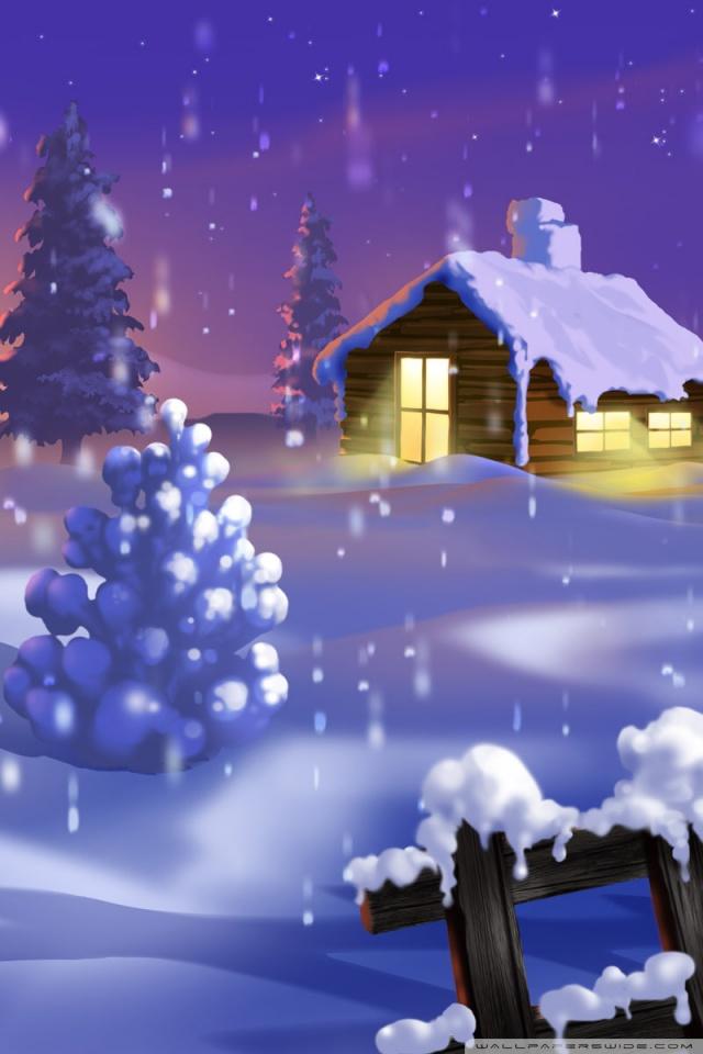 Live 3d Wallpaper Snowing Classic Winter Scene Painting 4k Hd Desktop Wallpaper For