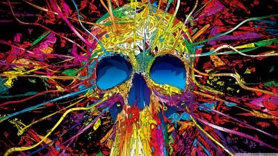 Colorful Skull 4K HD Desktop Wallpaper for 4K Ultra HD TV • Tablet • Smartphone • Mobile Devices