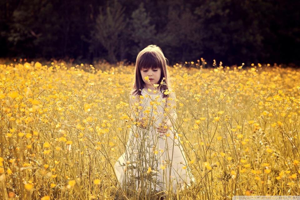 Cute Desktop Wallpaper Reddit Cute Child In A Flower Field 4k Hd Desktop Wallpaper For