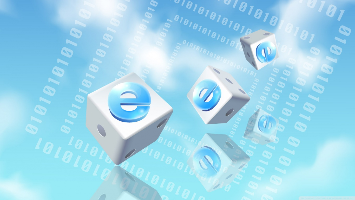 3d Dice Desktop Wallpaper Dice Internet Explorer Blue 4k Hd Desktop Wallpaper For 4k