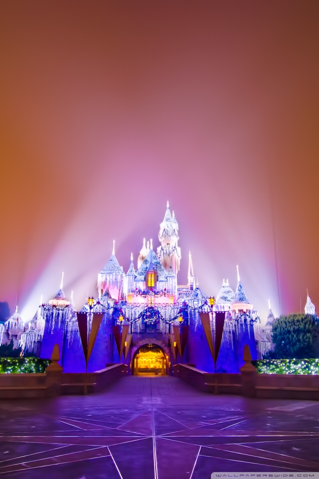 Google Wallpaper Hd 3d Disneyland Castle Christmas 4k Hd Desktop Wallpaper For 4k