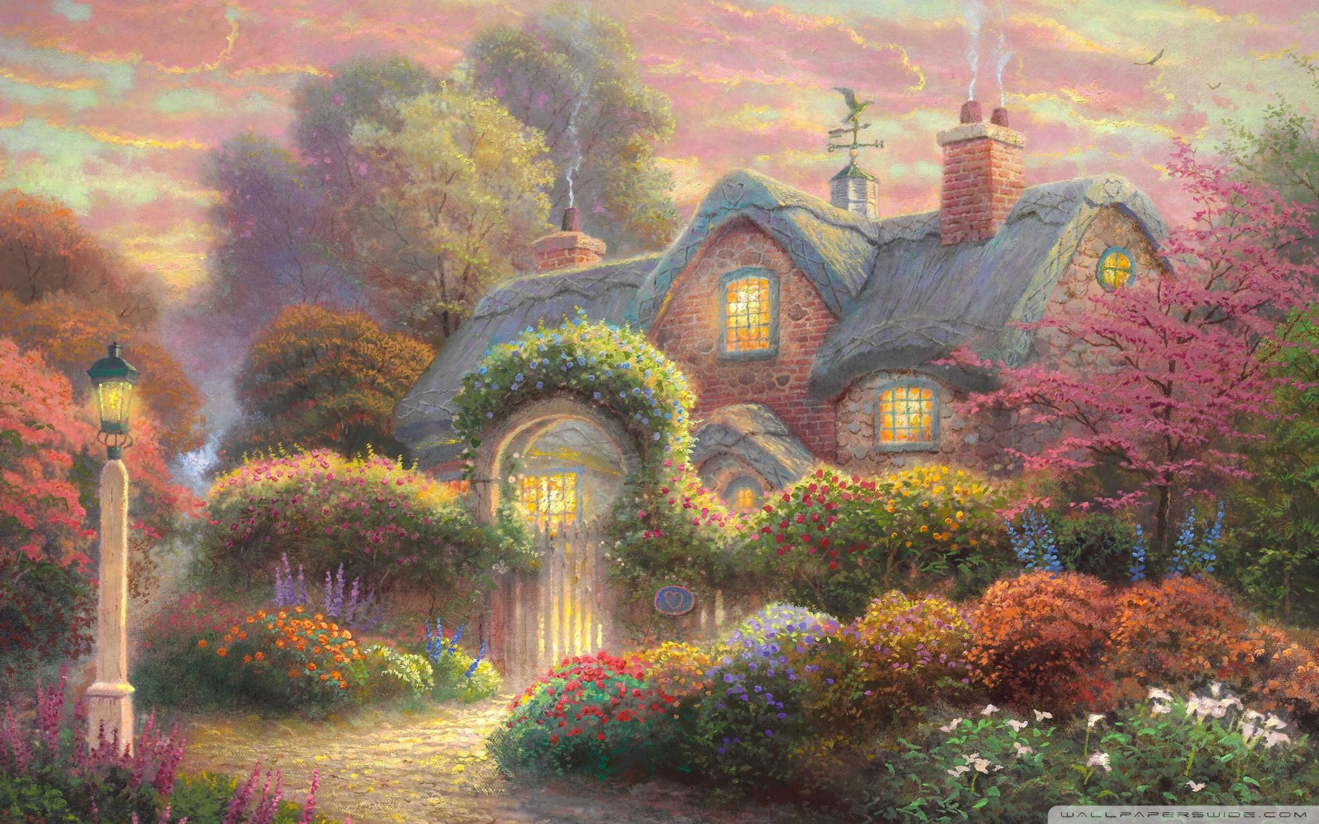 Cute Cartoon Wallpapers For Mobile Hd Fairytale Cottage Painting 4k Hd Desktop Wallpaper For 4k