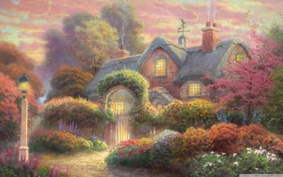 Fairytale Cottage Painting 4K HD Desktop Wallpaper for 4K Ultra HD TV • Tablet • Smartphone ...