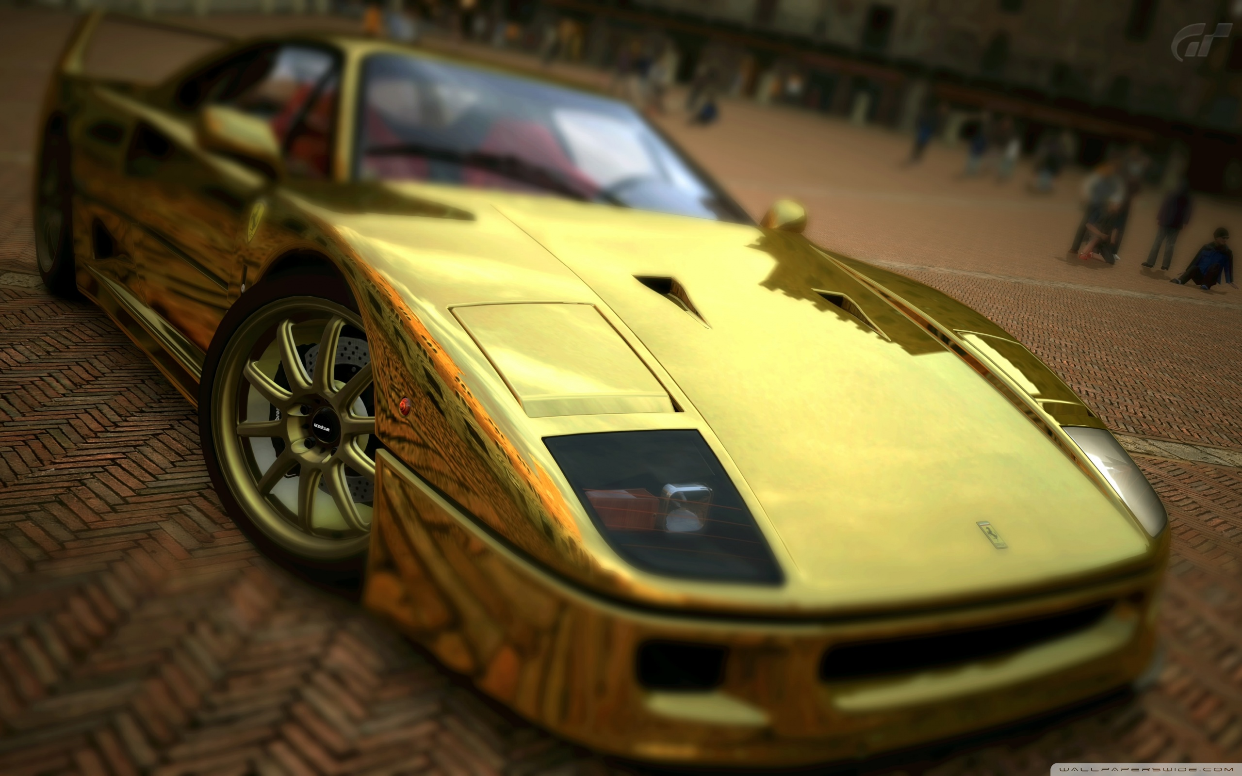 Download Car Wallpapers For Laptop Ferrari F40 Gold 4k Hd Desktop Wallpaper For 4k Ultra Hd