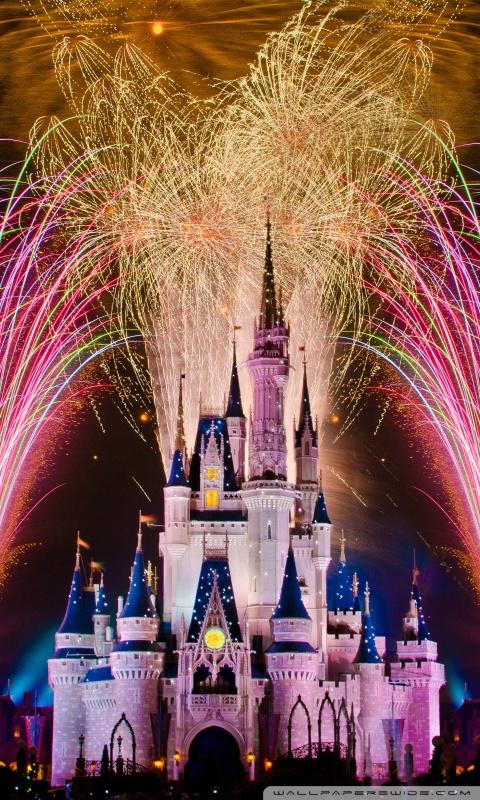 Fireworks Live Wallpaper Iphone Fireworks Over Cinderella Castle 4k Hd Desktop Wallpaper