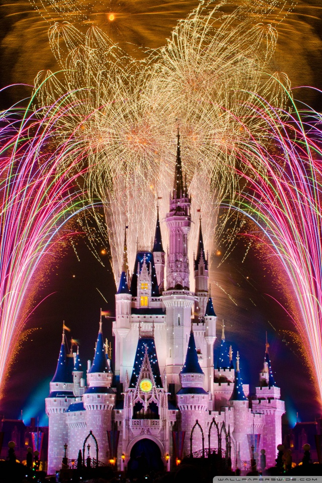 Magic Wallpaper Iphone X Fireworks Over Cinderella Castle 4k Hd Desktop Wallpaper