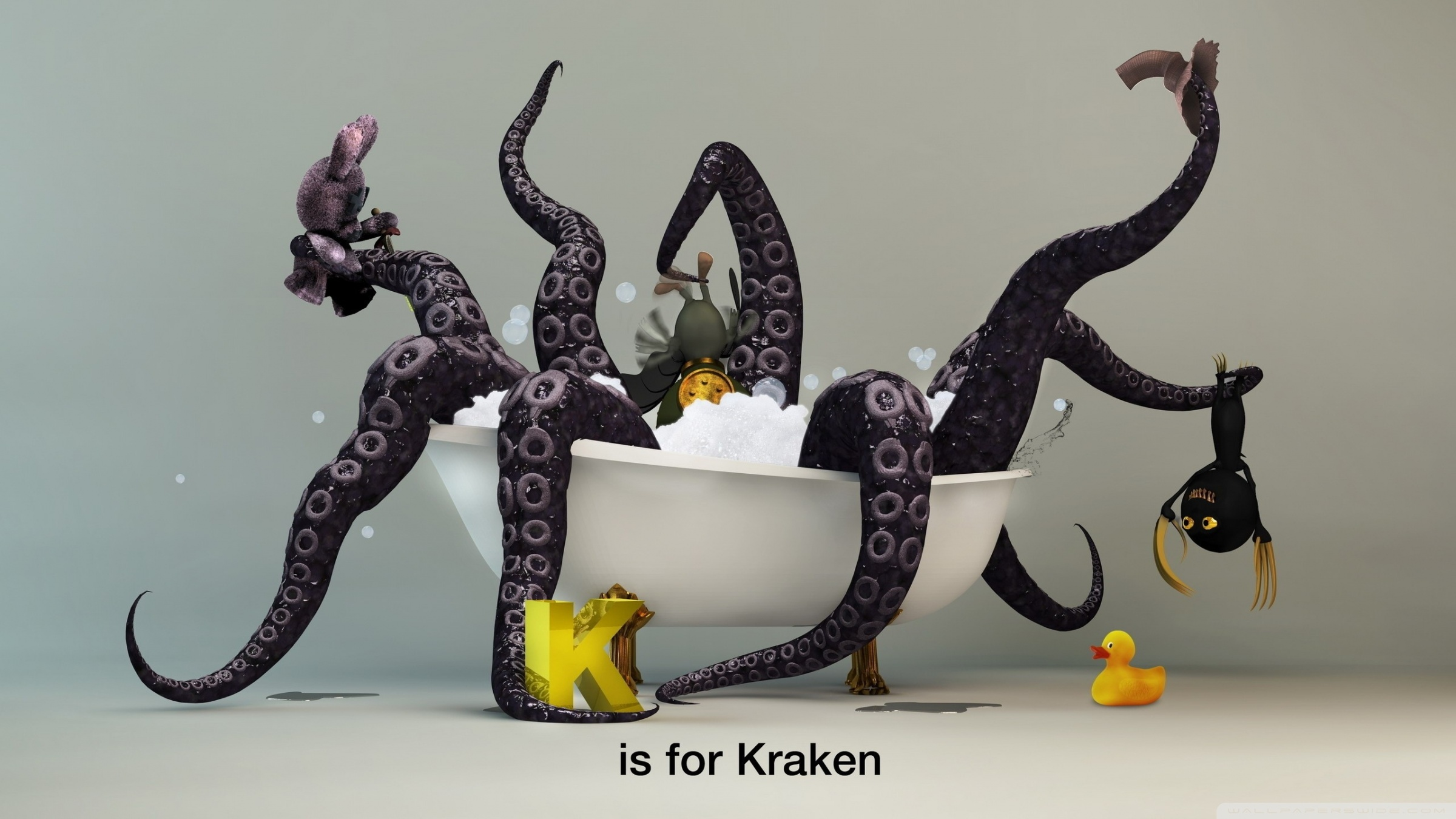 Cute Girl Wallpapers For Tablet Funny Kraken Monster 4k Hd Desktop Wallpaper For 4k Ultra