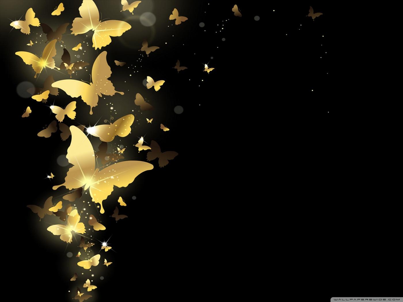 Wallpaper Smartphone 3d Golden Butterflies 4k Hd Desktop Wallpaper For 4k Ultra Hd