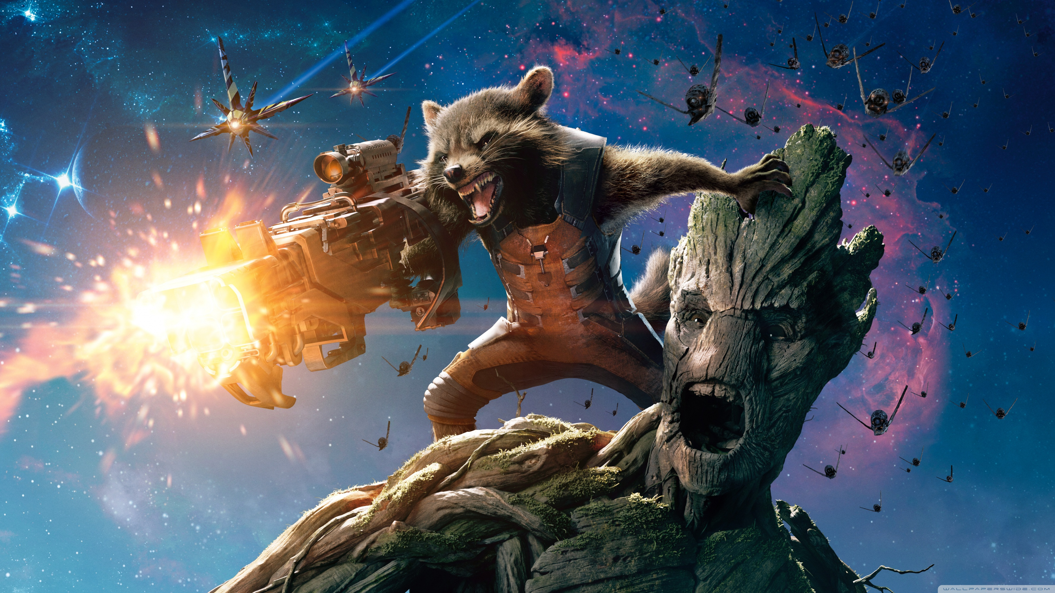 Baby Groot Guardians Of The Galaxy Guardians Of The Galaxy Groot And Rocket Raccoon 4k Hd
