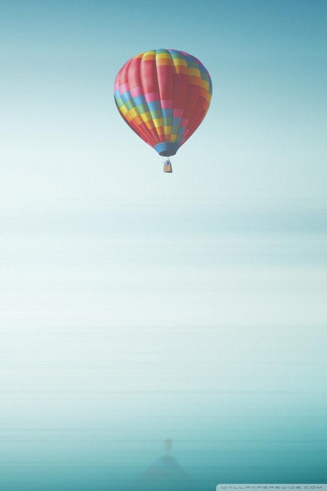 Smile Quotes Wallpaper Hd Hot Air Balloon Above The Ocean 4k Hd Desktop Wallpaper