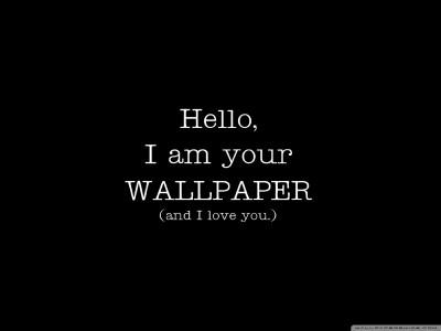 I'm Your Wallpaper And I Love You 4K HD Desktop Wallpaper for 4K Ultra HD TV • Tablet ...