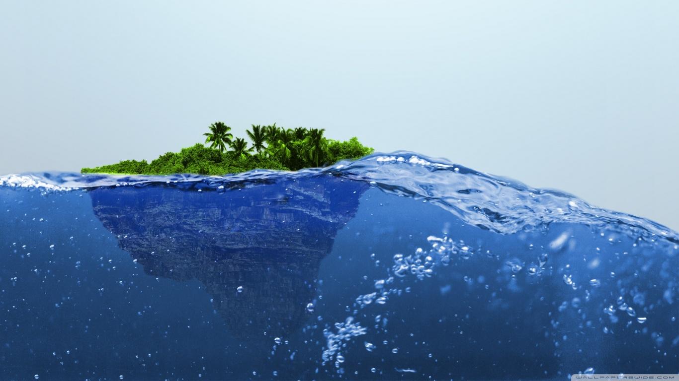 Water Fall Effect Wallpaper Island 4k Hd Desktop Wallpaper For 4k Ultra Hd Tv Wide