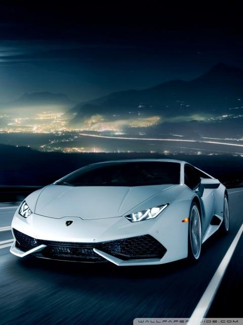 Google Wallpaper Hd 3d Lamborghini Huracan On The Road At Night 4k Hd Desktop